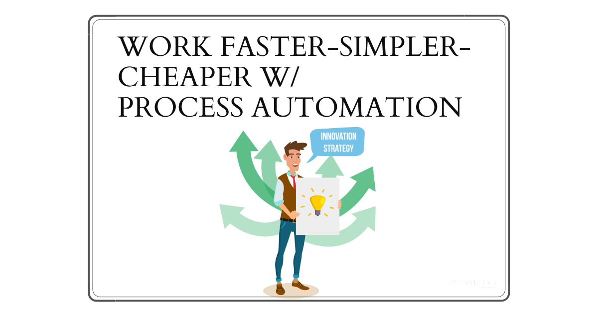 Basics of Business Process Automation: Work Faster-Simpler-Cheaper